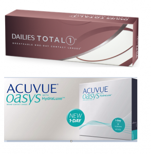 1- DAILIES TOTAL 1-dailies and Acuvue aosys - featured contacts